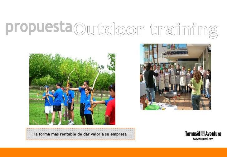 propuesta Outdoor training la forma más rentable de dar valor a su empresa