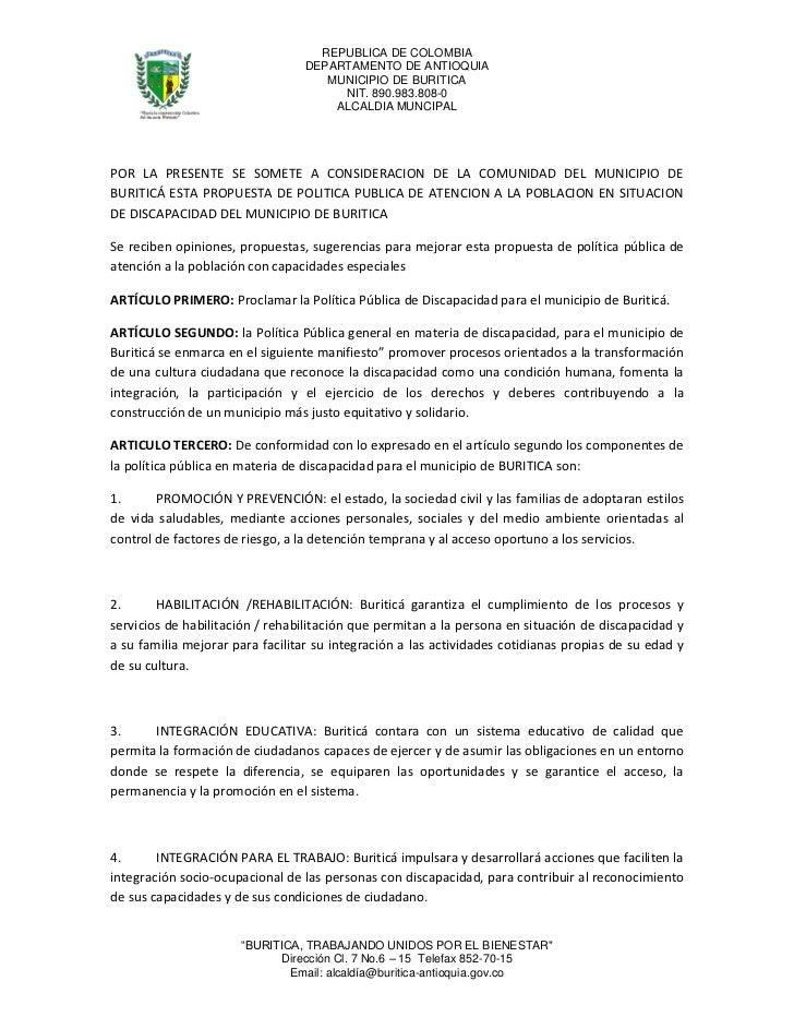 REPUBLICA DE COLOMBIA                                 DEPARTAMENTO DE ANTIOQUIA                                    MUNICIP...
