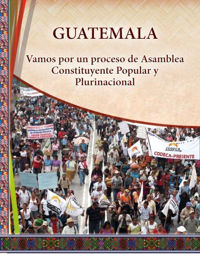 CHOLSAMAJ VamosporunprocesodeAsamblea ConstituyentePopulary Plurinacional GUATEMALA