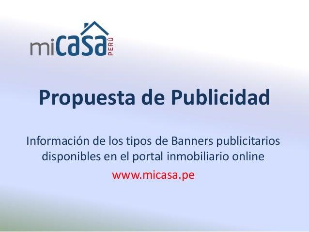 Banners publicitarios en portal inmobiliario del per for Portal de inmobiliarias