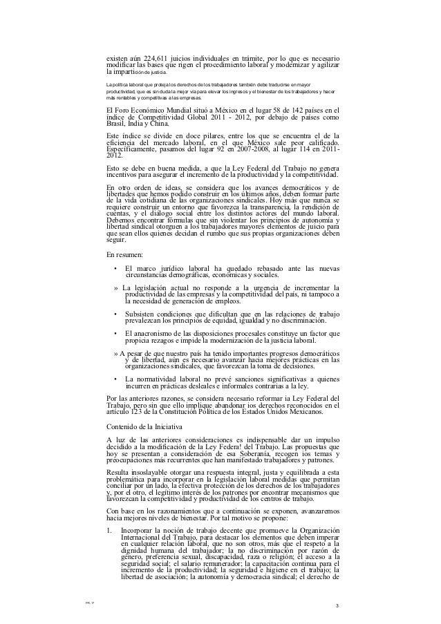 Propuesta de reforma laboral de felipe calderón Slide 3