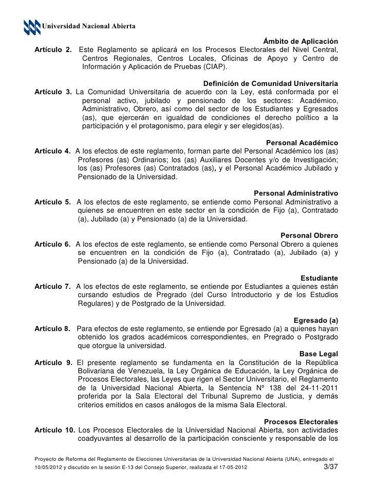 Propuesta de reglamento de elecciones una for Oficina abierta definicion
