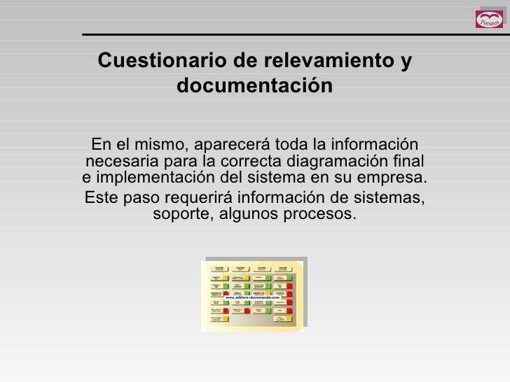 Cuestionario de relevamiento y documentación En el mismo, aparecerá toda la información necesaria para la correcta diagram...