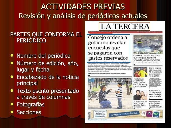 Propuesta de trabajo periodico historico for Cuales son las partes de un periodico mural