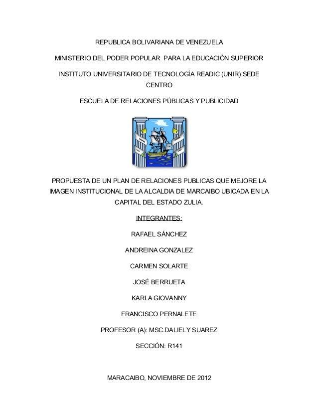 REPUBLICA BOLIVARIANA DE VENEZUELA MINISTERIO DEL PODER POPULAR PARA LA EDUCACIÓN SUPERIOR  INSTITUTO UNIVERSITARIO DE TEC...