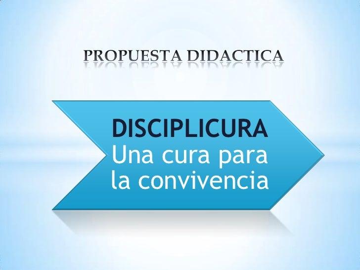 PROPUESTA DIDACTICA<br />