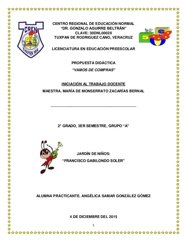 "1 CENTRO REGIONAL DE EDUCACIÓN NORMAL ""DR. GONZALO AGUIRRE BELTRÁN"" CLAVE: 30DNL0002X TUXPAN DE RODRIGUEZ CANO, VERACRUZ L..."