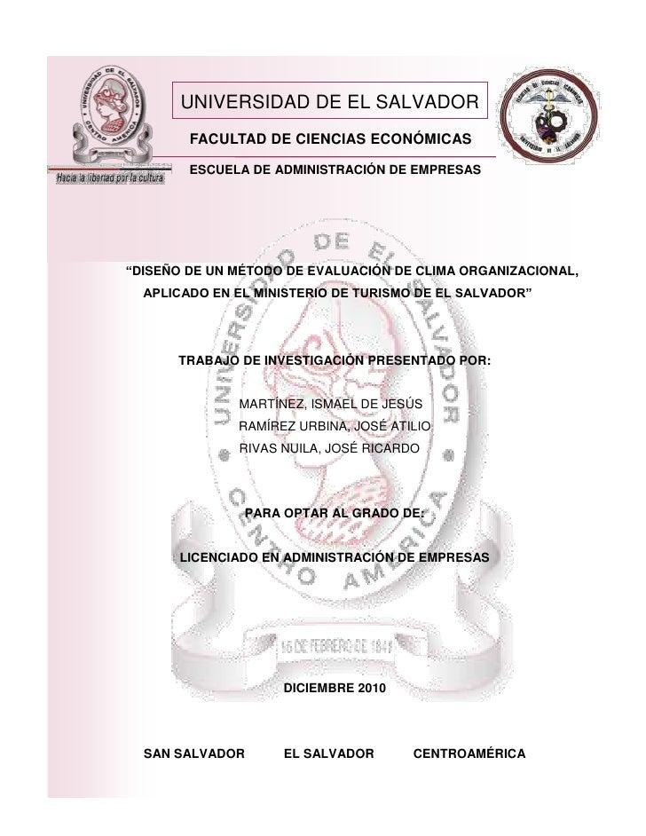 """UNIVERSIDAD DE EL SALVADOR        FACULTAD DE CIENCIAS ECONÓMICAS        ESCUELA DE ADMINISTRACIÓN DE EMPRESAS""""DISEÑO DE U..."""