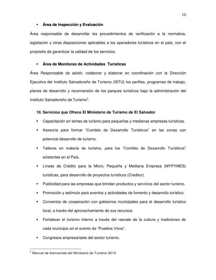 10         Área de Inspección y EvaluaciónÁrea responsable de desarrollar los procedimientos de verificación a la normati...