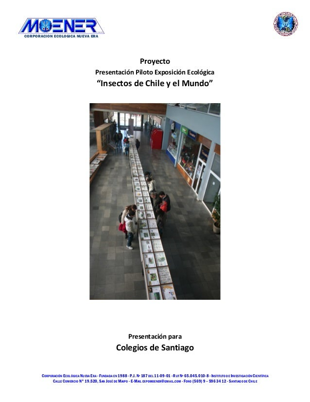 CORPORACION ECOLOGICA NUEVA ERA CORPORACIÓN ECOLÓGICA NUEVA ERA -FUNDADA EN 1988-P.J.Nº 187DEL 11-09-01-RUT Nº 65.045.010-...