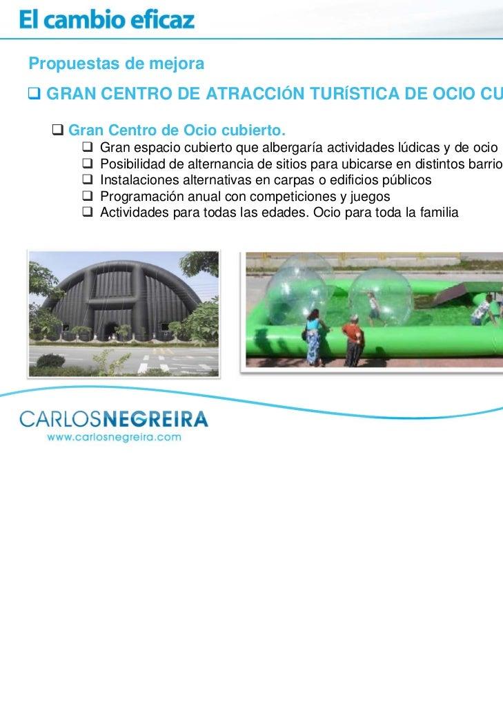 Propuestas de mejora  GRAN CENTRO DE ATRACCIÓN TURÍSTICA DE OCIO CUBIERTO    Gran Centro de Ocio cubierto.        Gran esp...