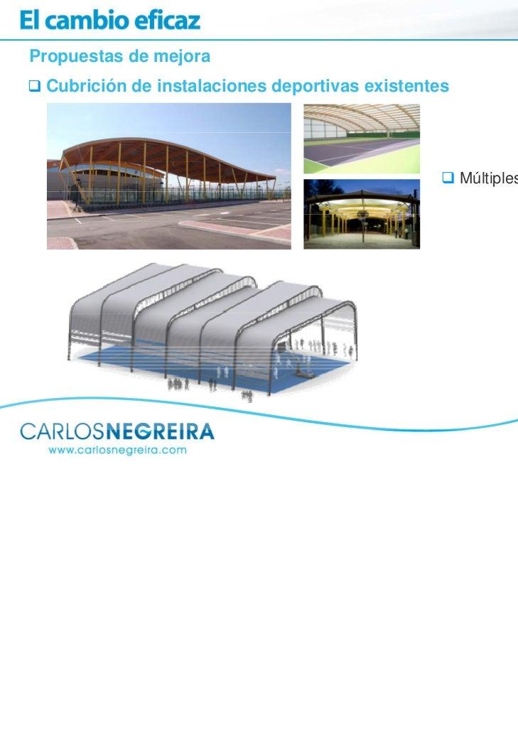 Propuestas de mejora Cubrición de instalaciones deportivas existentes                                                    M...