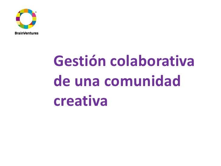 Be-CreativePropuesta gestión colaborativa