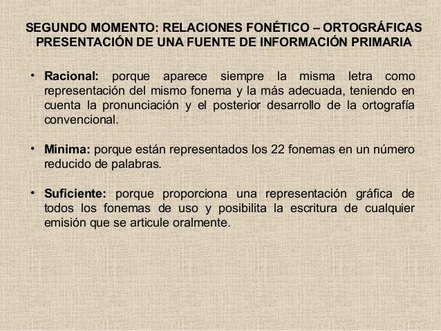 TERCER MOMENTO: ESCRITURA FONOLÓGICA