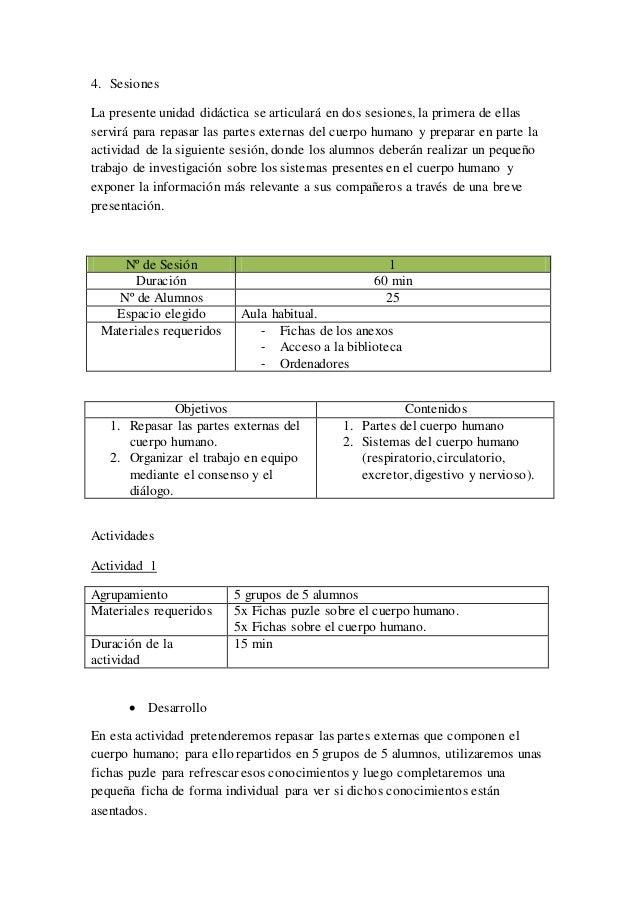 Propuesta simple unidad didáctica (INGLÉS)