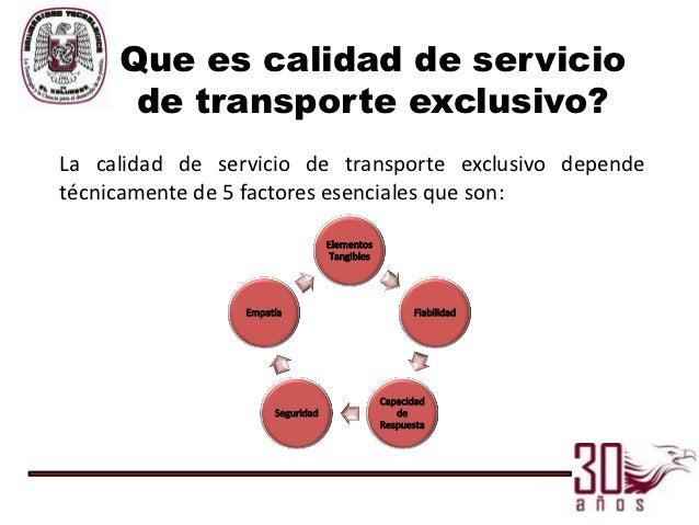 Propuesta manual de calidad para empresa de transporte - Servicio de transporte ...
