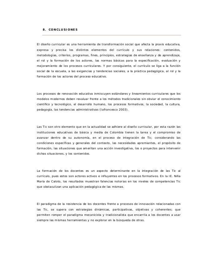 Propuesta metodológica para la integración de Tic al currículo