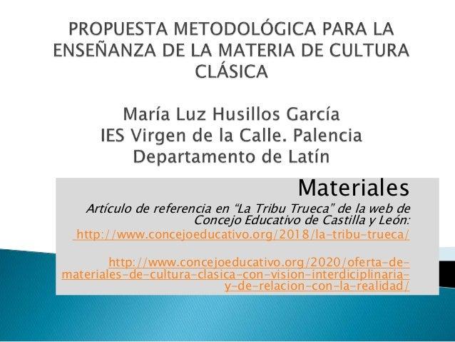 """Materiales Artículo de referencia en """"La Tribu Trueca"""" de la web de Concejo Educativo de Castilla y León: http://www.conce..."""