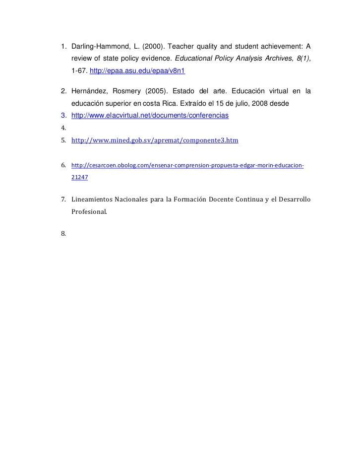 Propuesta para el desarrollo profesional docente para el for Oficina virtual de formacion profesional para el empleo