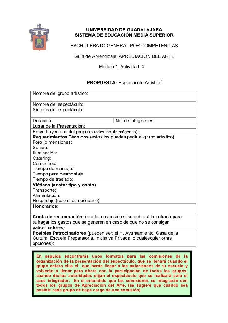 UNIVERSIDAD DE GUADALAJARA                     SISTEMA DE EDUCACIÓN MEDIA SUPERIOR                    BACHILLERATO GENERAL...