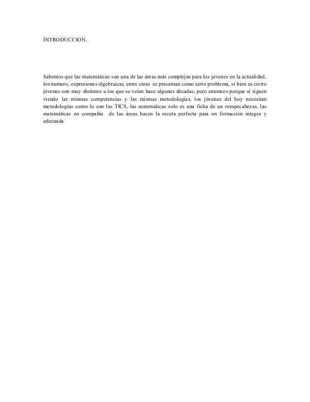 Propuesta para mejorar el area de las matematicas Slide 2