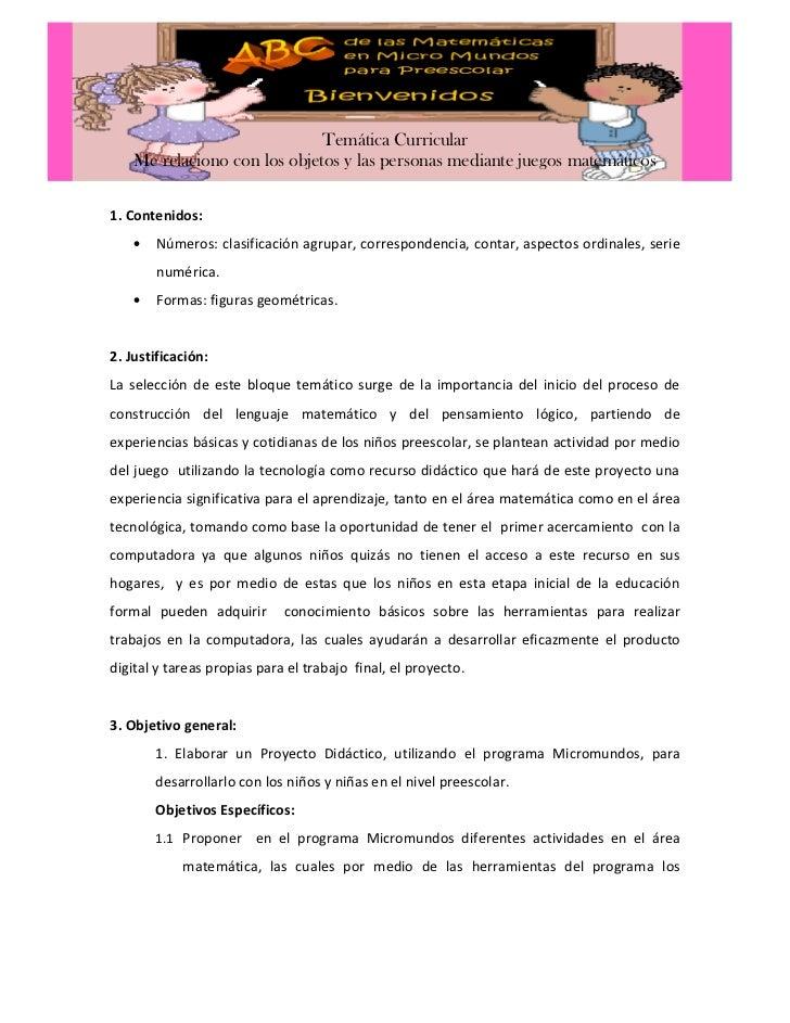 Propuesta proyecto didactico yahaira