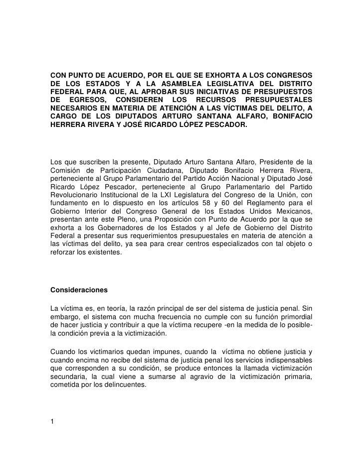 CON PUNTO DE ACUERDO, POR EL QUE SE EXHORTA A LOS CONGRESOS DE LOS ESTADOS Y A LA ASAMBLEA LEGISLATIVA DEL DISTRITO FEDERA...