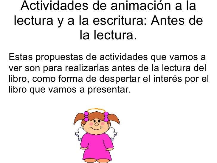 Propuestas De Actividades Para Trabajar La AnimacióN A Slide 2