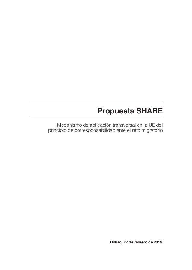 Propuesta SHARE Mecanismo de aplicación transversal en la UE del principio de corresponsabilidad ante el reto migratorio B...