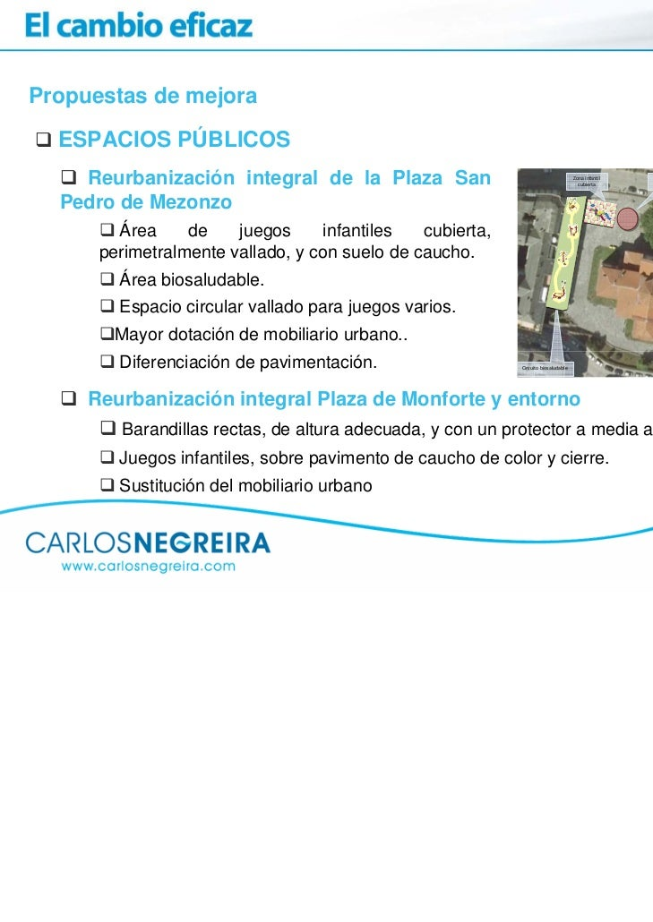 Propuestas de mejora  ESPACIOS PÚBLICOS    Reurbanización integral de la Plaza San                                        ...