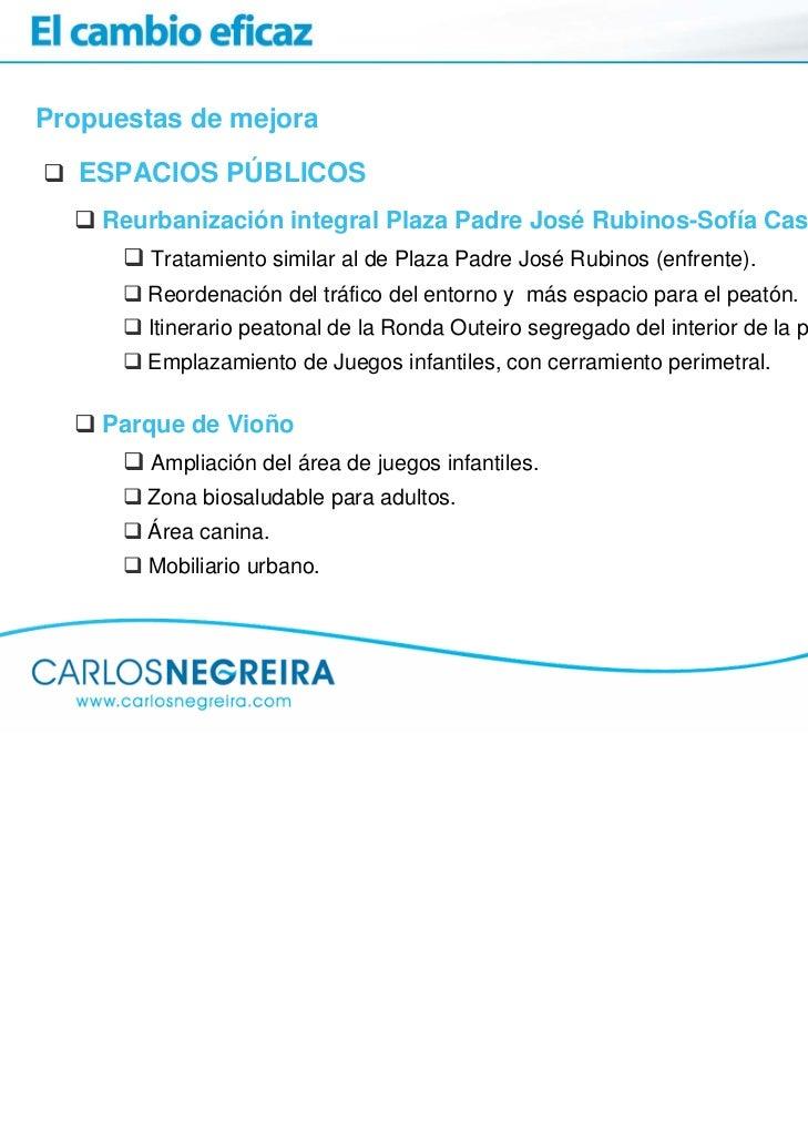 Propuestas de mejora   ESPACIOS PÚBLICOS    Reurbanización integral Plaza Padre José Rubinos-Sofía Casanova        Tratami...