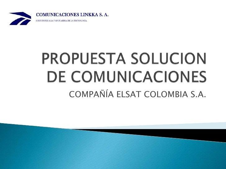 COMPAÑÍA ELSAT COLOMBIA S.A.