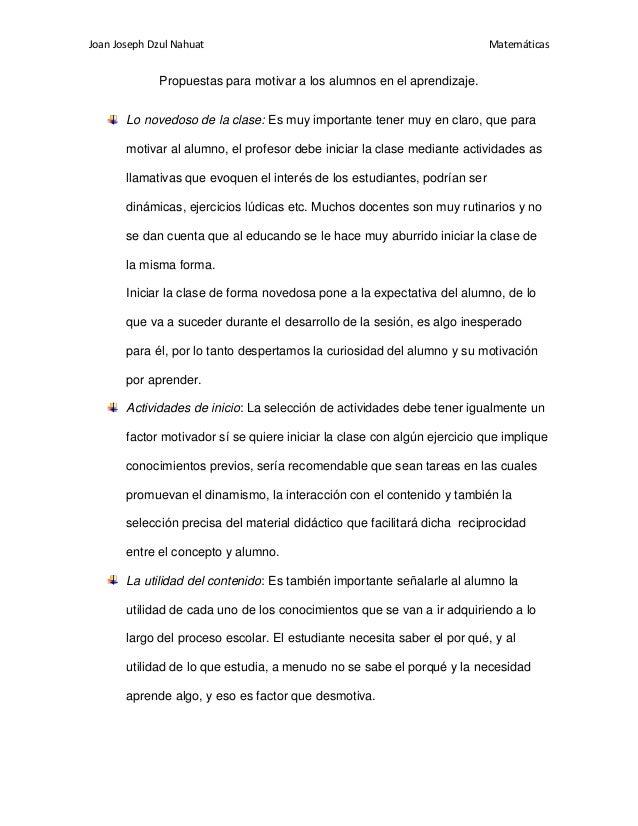Joan Joseph Dzul Nahuat                                                    Matemáticas              Propuestas para motiva...