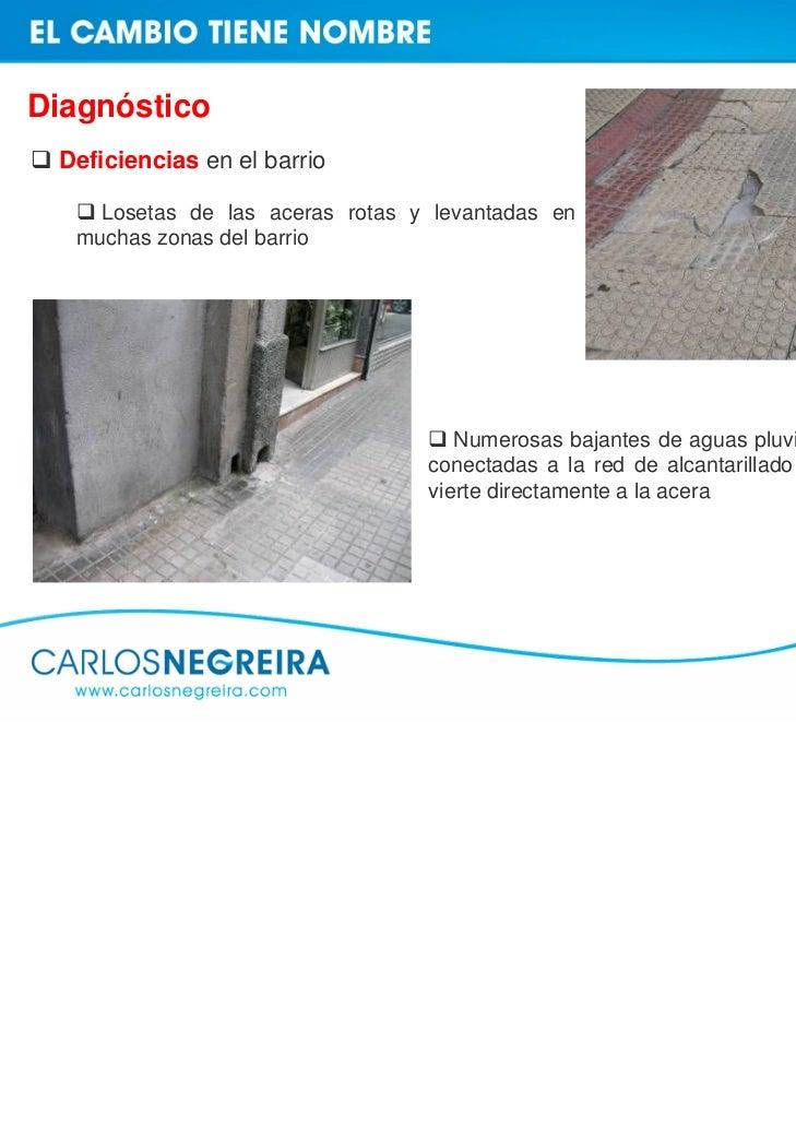 Diagnóstico Deficiencias en el barrio    Pasos de cebra despintados y mal  señalizados, algunos no visibles para los  cond...