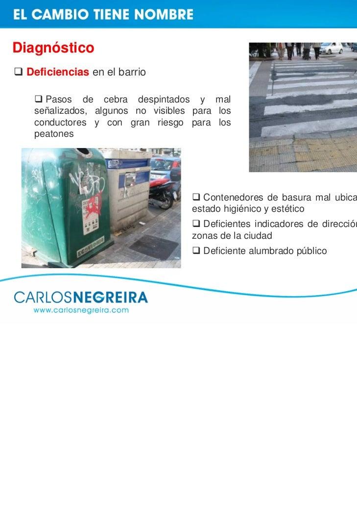 Diagnóstico Deficiencias en el espacio libre para aparcamiento en la C/ Caballeros   En la C/ Caballeros, a la altura del ...