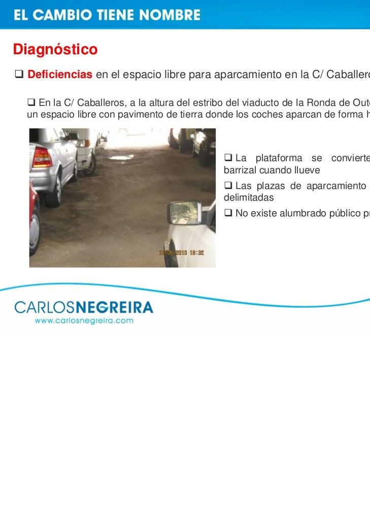 Propuestas de mejora Plan especial de accesibilidad en parkings subterráneos    Parking La Palloza: ascensor, itinerario p...