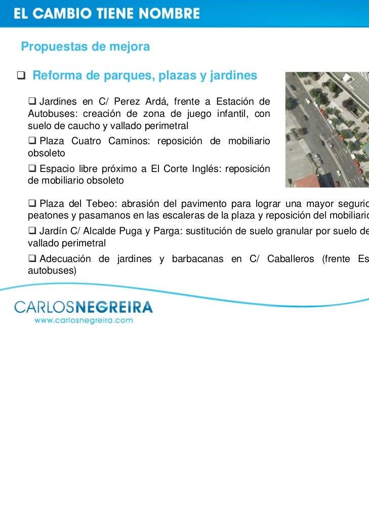 Propuestas de mejora Reforma de parques, plazas y jardines   Jardines en C/ Perez Ardá, frente a Estación de Autobuses: cr...