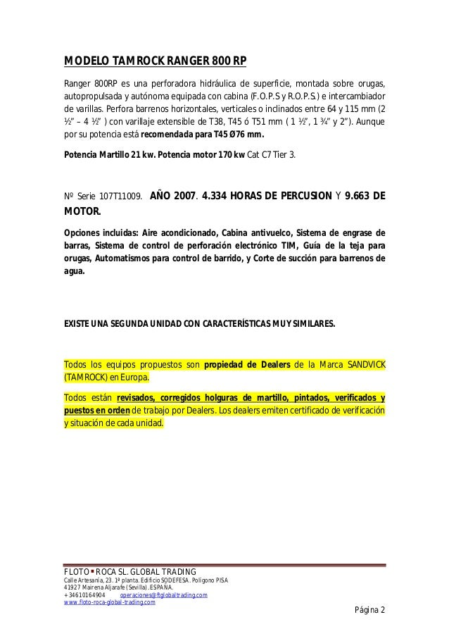 FLOTO ■ ROCA SL. GLOBAL TRADING Calle Artesanía, 23. 1ª planta. Edificio SODEFESA. Polígono PISA 41927 Mairena Aljarafe (S...