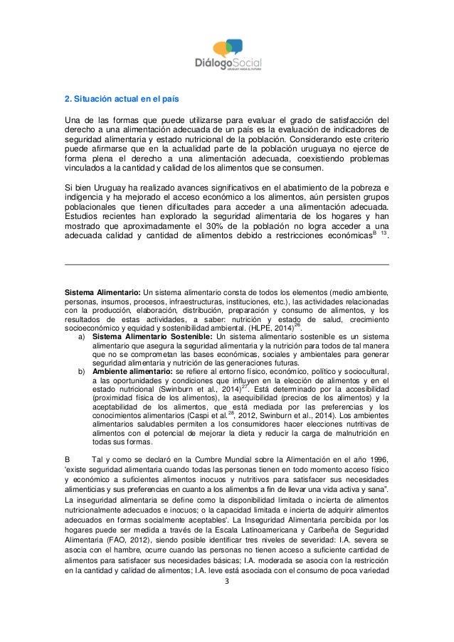 3 2. Situación actual en el país Una de las formas que puede utilizarse para evaluar el grado de satisfacción del derecho ...