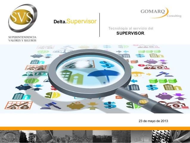 Tecnología al servicio delSUPERVISOR.23 de mayo de 2013Delta.Supervisor1