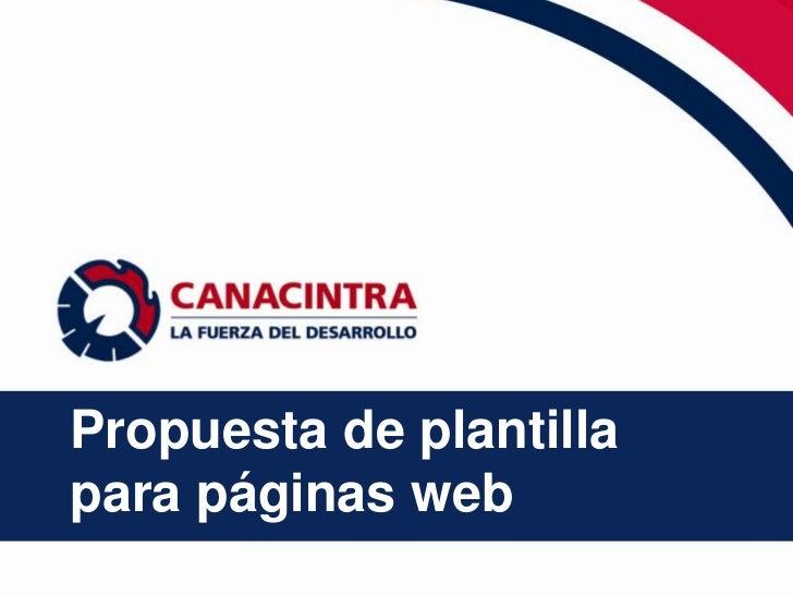 Propuesta de plantillapara páginas web