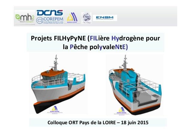 Projets FILHyPyNE (FILière Hydrogène pour la Pêche polyvaleNtE) Colloque ORT Pays de la LOIRE – 18 juin 2015