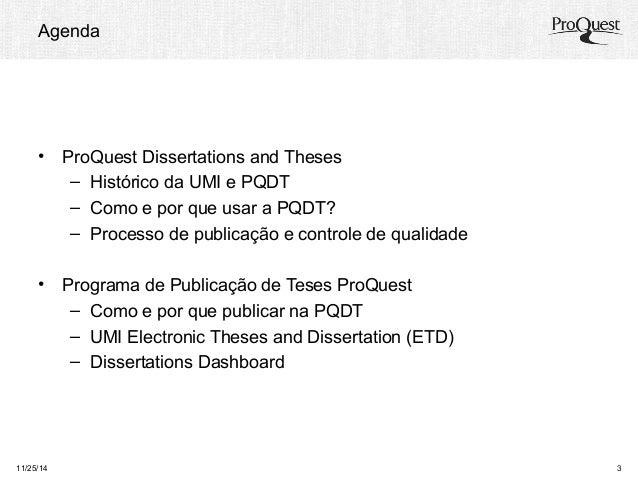 Programa de publicação de teses ProQuest Slide 2