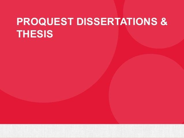 Programa de publicação de teses ProQuest Slide 3