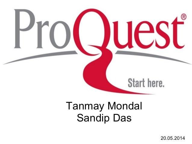 Tanmay Mondal Sandip Das 20.05.2014