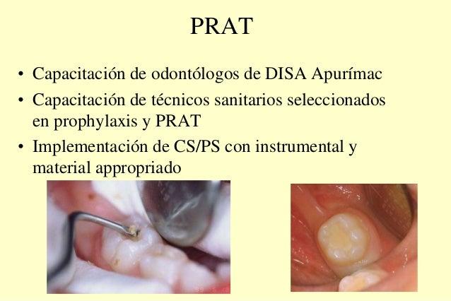 PRAT • Capacitación de odontólogos de DISA Apurímac • Capacitación de técnicos sanitarios seleccionados en prophylaxis y P...