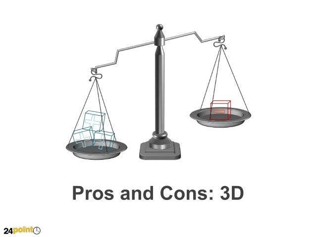 Pros and Cons: 3D  Insert Text Insert your own text here Insert your text here