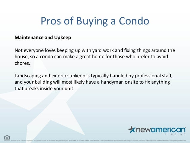 Pros And Cons Of Buying A Condo New American Funding