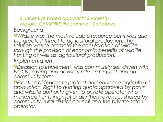 Community Based Natural Resource Management In Zimbabwe