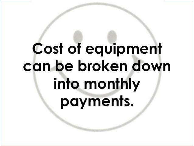 pros and cons of equipment leasing
